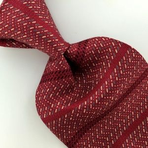 RED GEOMETRIC Silk Men Designer Necktie Ties